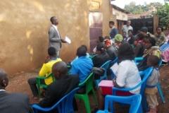 Acommunity seminar with Single and Ndejje single mothers Association